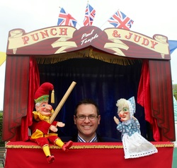 Paul Temple with Punch & Judy