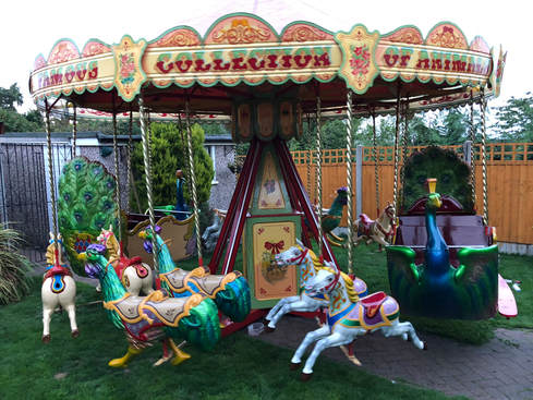 Vintage Halstead Childrens Fairground Carousel For Hire Paul Temple Entertainments